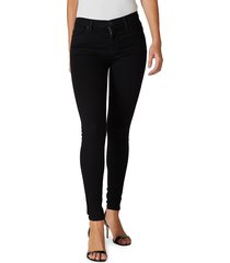 hudson women's nico super skinny jeans - black - size 29 (6-8)