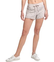 calvin klein printed french terry shorts