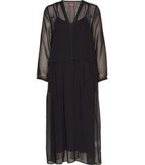 pricilla solid jurk knielengte zwart line of oslo