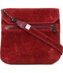 as2ov flat shoulder bag - red