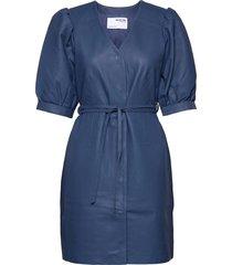 slfminella 2/4 short leather dress b dresses party dresses blå selected femme