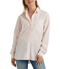lucky brand cotton relaxed one-pocket shirt