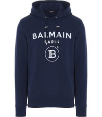 balmain balmai foil hoodie