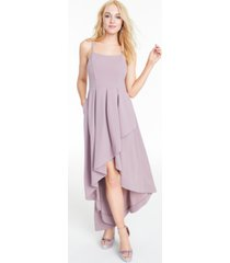 speechless juniors' pleated high-low gown