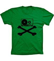 camiseta baby look lu geek fita caveira verde - verde - feminino - dafiti