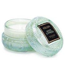 mini vela macaron whire cypress - verde