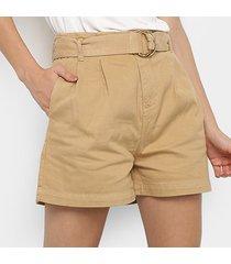 shorts jeans maria filó hot pants cinto feminino