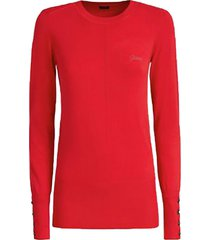 chaleco ls rn nives sweater rojo guess