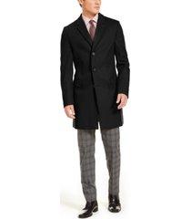 hugo men's slim-fit solid overcoat