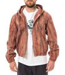 stussy giacca uomo rust dyed work jacket 115565.rust