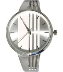 women's modern striped design bangle watch 38mm