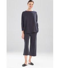 natori mia, sanded jersey oversized tunic top sleepwear pajamas & loungewear, women's, size m natori