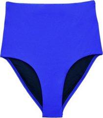 bikini calzón tiro alto azul samia