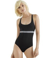 body con diseño de tiras en la espalda-negro-options-femenino