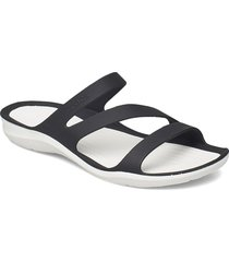 swiftwater sandal w shoes summer shoes flat sandals svart crocs
