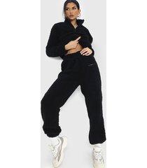 conjunto polerón + jogger missguided negro - calce holgado