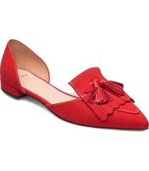 canvas loafer 2 piece harlech flat ballerinaskor ballerinas röd j.crew