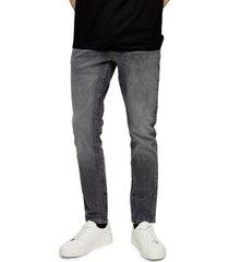men's topman slim fit stretch jeans, size 30 x 32 - grey