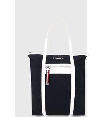 bolso azul oscuro-blanco tommy hilfiger