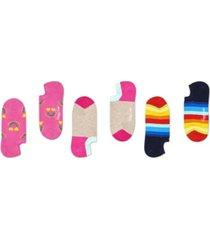 happy socks women's 3-pack happy rainbow liner sock