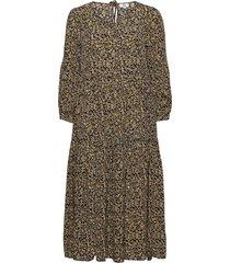 dress long sleeve maxiklänning festklänning gul noa noa