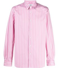 aspesi vertical-stripe shirt - pink