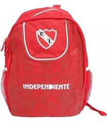 mochila roja independiente