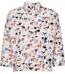 boheme shirt imagenation kortärmad skjorta multi/mönstrad papu