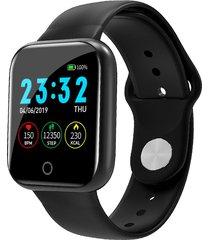bakeey i5 continuo corazón rate o2 monitor cara del reloj recordatorio de identificación de llamadas de whatsapp reloj inteligente de cuerpo completo - negro