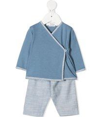 bonpoint wrap tracksuit set - blue