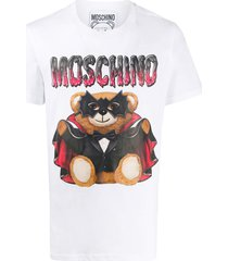 moschino bat teddy bear print t-shirt - white