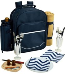 picnic at ascot deluxe 2 person picnic backpack cooler, wine pouch, and blanket