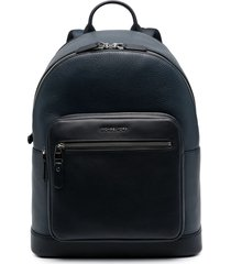 michael kors collection pouch-pocket leather backpack - blue