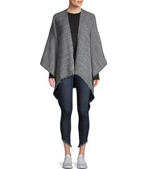 houndstooth check shawl