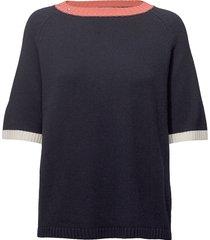 logan knit t-shirts & tops knitted t-shirts/tops blauw hunkydory