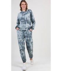 conjunto con capucha tie dye gris night concept