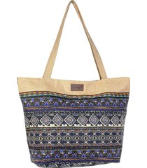 bolso azul  reef canvas sublimado