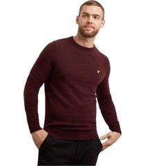 crew neck lamswollen blend t-shirt