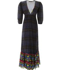 jessie western rainbow stars long dress
