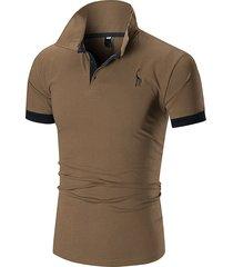 camiseta de verano de los tops hombre hombres cofre de ciervo con