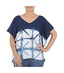 tie-dyed cotton blouse, 'sunlit window' (thailand)