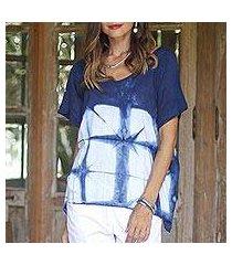 tie-dyed cotton blouse, 'sunlit window' (thailand)