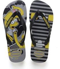 sandalias chanclas havaianas para hombre gris simpsons