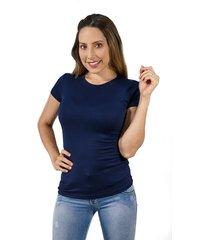 mini t-shirt dama cuello redondo azul oscuro  s bocared maite 27011663