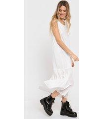 vestido blanco portsaid volados fresh