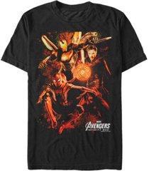 marvel men's avengers infinity war earths mighty warriors short sleeve t-shirt