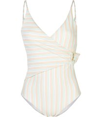 onia lila wrap-style swimsuit - multicolour