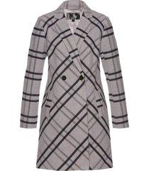 cappotto in simil lana a quadri (grigio) - bpc selection