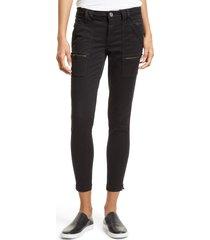 women's joie park skinny pants, size 24 - black