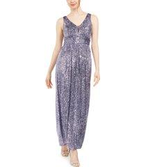nightway petite sequinned gown